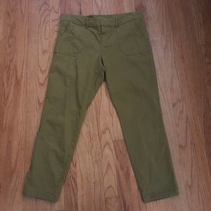 Old Navy Mustard Green Pants- Size 12